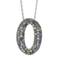 Suzy Levian - Metallic Silver 1.00 Ct. Tw. Sapphire Necklace - Lyst