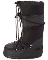 Moncler - Black Saturn Moon Boot - Lyst