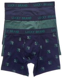 Lucky Brand - Blue 3pk Boxer Briefs for Men - Lyst