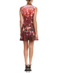 Karen Millen - Red Fire Flower Dress - Lyst