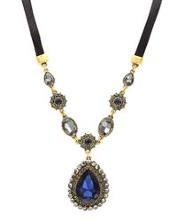 Sparkling Sage - Metallic 14k Plated Crystal & Resin Necklace - Lyst