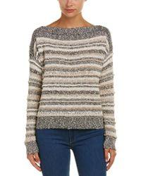Splendid - Brown Pintuck Pullover - Lyst