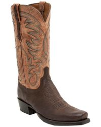 Lucchese Brown Men's Leather Western Boot
