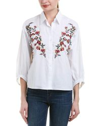 Haute Rogue - White Embroidered Shirt - Lyst