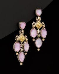 Konstantino - Black Iliada 18k & Silver 22.00 Ct. Tw. Mother-of-pearl Gemstone Doublet Earrings - Lyst