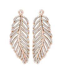 Pandora - Multicolor Rosetm Cz Feather Drop Earrings - Lyst