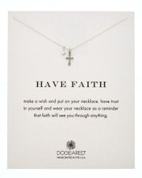 Dogeared - Metallic Silver Have Faith Necklace - Lyst