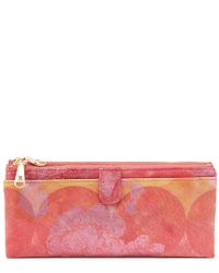Hobo - Pink Taylor Leather Continental Wallet - Lyst