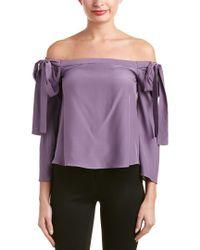 Jay Godfrey Purple Silk Blouse