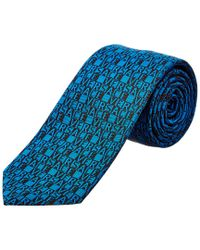 Versace - Blue Silk Tie for Men - Lyst