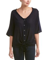 Michael Stars - Blue Tie-front Top - Lyst