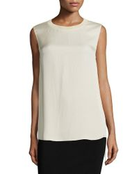 Vince - Multicolor Ribbed Silk Tank - Lyst