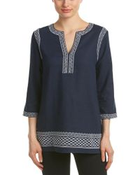 Brooks Brothers - Blue Linen-blend Tunic - Lyst