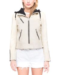 Marc New York - Multicolor Winona Washed Leather Jacket - Lyst