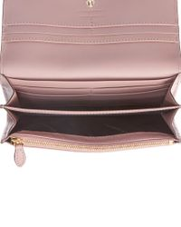 Burberry Pink House Check & Leather Continental Wallet