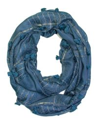Saachi - Women's Blue Oversized Infinity Scarf - Lyst