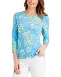 J.McLaughlin - Blue T-shirt - Lyst