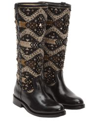 Frye - Black Jayden Navaho Leather Tall Boot - Lyst