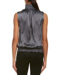 Lafayette 148 New York - Gray Marlana Silk Top - Lyst