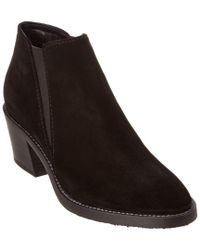 Aquatalia - Black Lillian Waterproof Suede Bootie - Lyst