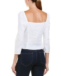 cb494305a7bc7 Lucy Paris Riley Blouse in White - Lyst