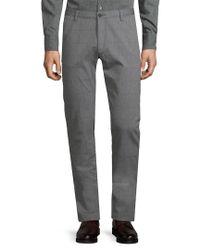 BOSS - Gray Windowpane Pant for Men - Lyst