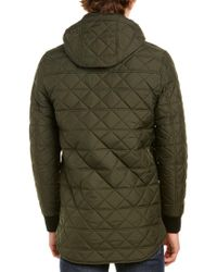 Victorinox - Green Swiss Army Quilted Hooded Jacket for Men - Lyst