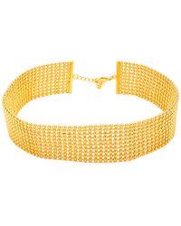 Gorjana - Metallic Newport 18k Plated Choker Necklace - Lyst