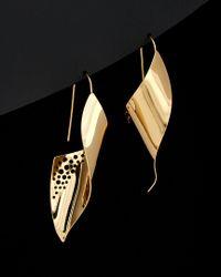 Argento Vivo - Black 18k Plated Drop Earrings - Lyst