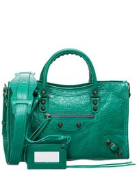 1d243650d0 Lyst - Balenciaga Classic Metallic City Small Leather Shoulder Bag ...