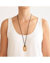 Hissia | Black Sol De Jaipur Ebony And Citrine Necklace | Lyst