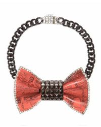 Bijoux De Famille - Orange Pyramide Bow Necklace - Lyst
