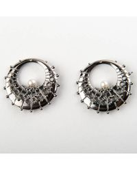 De La Forge | Metallic Calypso Ruthenium Stackable Earrings | Lyst