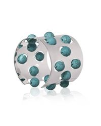 Yael Salomon | Metallic Greta 04 Silver And Turquoise Cuff | Lyst