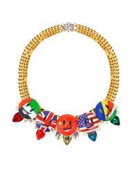 Bijoux De Famille | Multicolor Flag Me Plastron Necklace | Lyst