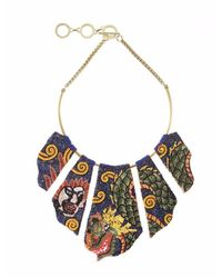 Forest Of Chintz | Multicolor Dragon Panel Necklace | Lyst