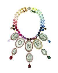 Bijoux De Famille - Multicolor Rainbow One Dollar Chandelier Necklace - Lyst