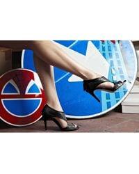 De Siena - Selyse Black Cutout Ankle Booties - Lyst