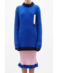 Jamie Wei Huang - Blue Lin Cashmere Pencil Skirt - Lyst