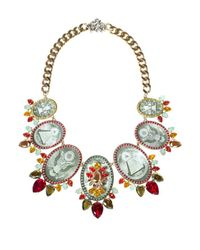 Bijoux De Famille - Multicolor Watermellon Medallion Necklace - Lyst