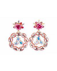 Bijoux De Famille - Multicolor No Logo Peace Earrings - Lyst