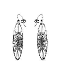 Ayaka Nishi | Metallic Silver Long Cell Earrings | Lyst