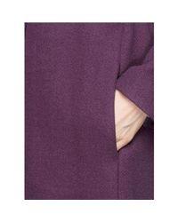 Chloé - Purple Mauve Wool Blend Robe Coat - Lyst