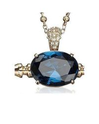 Mawi - Spike And Oval Blue Crystal Necklace - Lyst