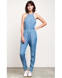 f03eb97777f8 Lyst - Rvca Be About It Jumpsuit in Blue