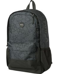 RVCA - Black Frontside Print Backpack for Men - Lyst