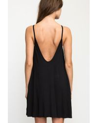 RVCA - Black Pipe Dream Swing Tank Dress - Lyst