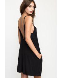 RVCA - Black Pipe Dream Swing Tank Dress - Lyst
