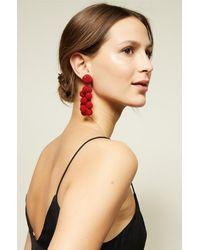 Sachin & Babi - Red Coconuts Earrings | Scarlet - Lyst