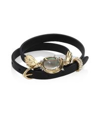 Alexis Bittar - Black Elements Golden Array Adjustable Wrap Bracelet/choker - Lyst